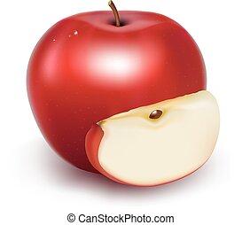 świeży, jabłko