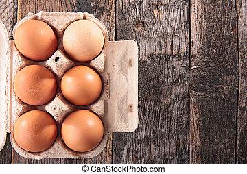 świeży, jajko