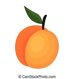 świeży, mangowiec, owoc, ikona