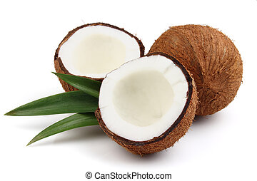 świeży, orzech kokosowy