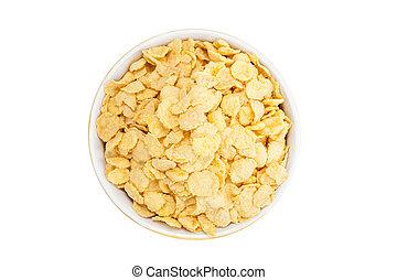 świeży, puchar, corn-fleksy, zboże
