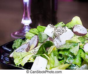 świeży, stołowa sałata, zielony