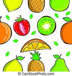 świeży, styl, owoc, zbiór, próbka