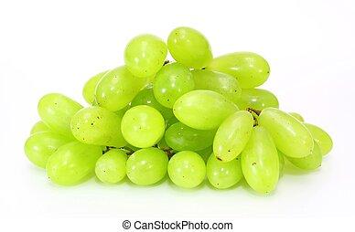 świeży, zielone winogrona