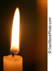 świeca, jednorazowy