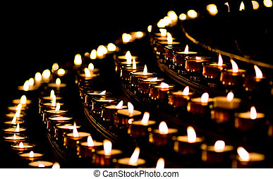 świeca lekka, w, niejaki, kościół