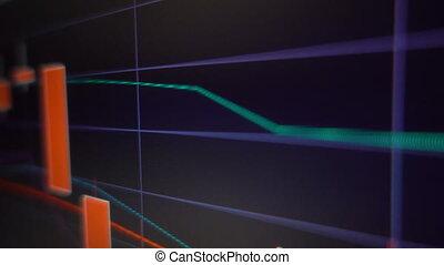 świeca, wykres, handlowy, wykres