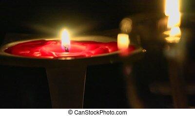 świeca zapaliła się, wino, zsyp