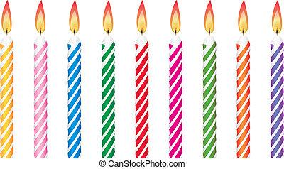 świece, urodziny