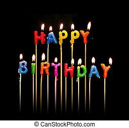 świece, urodziny, szczęśliwy