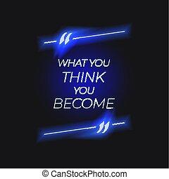świecić, power., become', motivational, pamięć, wektor, zacytować, ty, myśleć