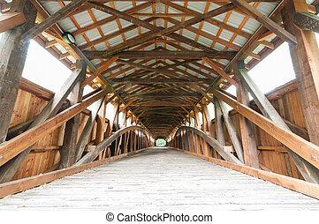 świerk, pagórek, nakrywany most
