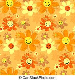 šťastný, bederní sukně, květiny