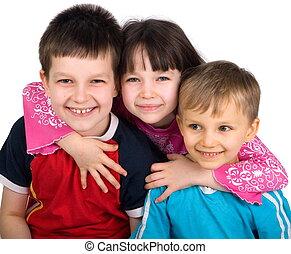 šťastný, děti