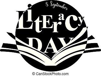 šťastný, gramotnost, den