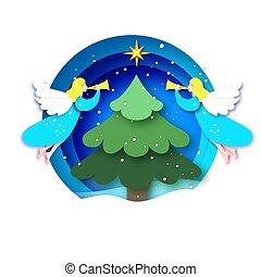 šťastný, kruh, čerstvý, anděle, karta, řezat, blahopřání, zima, východ, betlém, year., vánoce, -, neposkvrněný, noviny, nezkušený, kopyto., hvězda, holidays., cetka, style., veselý, konstrukce, comet.