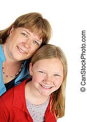 šťastný, matka i kdy dcera