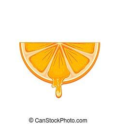 šťavnatý, pomeranč kolečko
