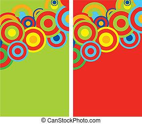 šablona, barvitý