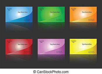 šablona, business card