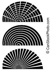 šablona, indikátor, dát, pravoúhelník, kolmice, plochý, rodový, abstraktní, zaměstnání, 3, design, eq, vodorovný, mříž, elements., distortion.