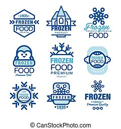 šablona, produkt, dát, cena, zamrzlý, rukopis, strava, vektor, emblém, osvětlení, nahý