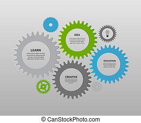 šablona, vektor, illustration., povolání, infographic