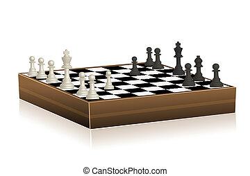 šachy prkna