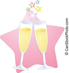 šampaňské tousty