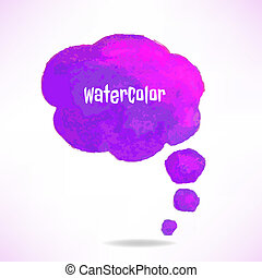 šeřík, barva vodová, řeč bublat