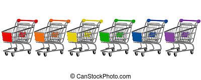 šest, shopping vozík