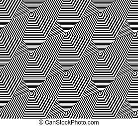 šestiúhelník, pattern., seamless