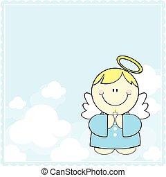 šikovný, mladý anděl