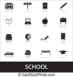 škola, ikona, eps10