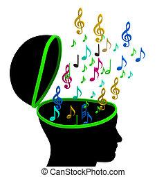 školství, hudba, majetek, diskant klíč, a, skladatel