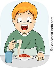 špagety, sluha