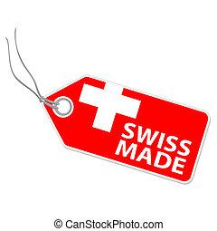 švýcarský rozeznat, hangtag
