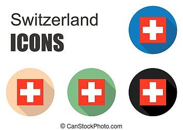 Švýcarsko, byt, dát, Ikona