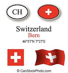 švýcarsko, ikona, dát