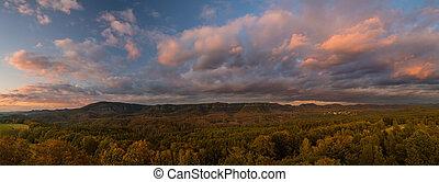 švýcarsko, západ slunce, podzim, vyvýšenina, krajina, ...