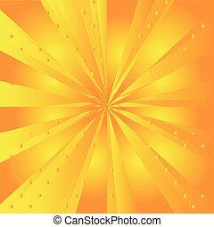 żółte tło, promień