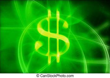 żółty, dolar znaczą