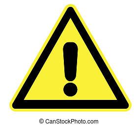 żółty, ostrzeżenie triangel