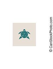 żółw, stylizowany, biały, sylwetka, tło.