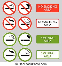 żadno palenie, papieros, dym, zabroniony, symbolika