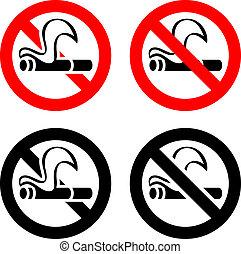żadno palenie, -, znaki