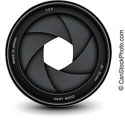 żaluzja, aparat fotograficzny