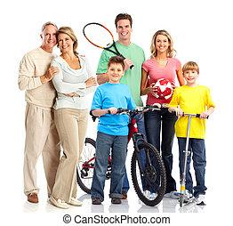 żartobliwy, rodzina, szczęśliwy