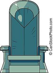 żelazo, ilustracja, tron