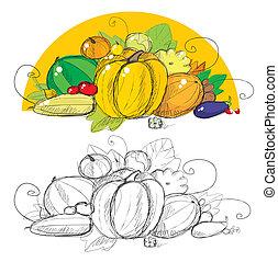 żniwa, warzywa